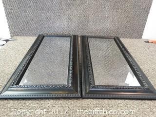 "2 Decorative Mirrors T-24"" W-12"""