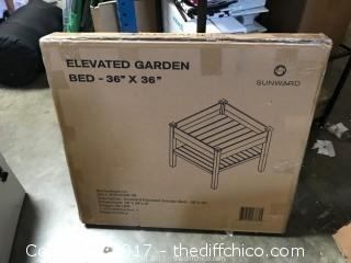 "Sunward 36"" x 36"" Elevated Garden Bed"