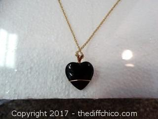 10k Black Hills Gold Wrap On The Heart. The Necklace Is Gold Plated