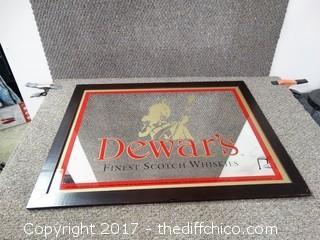 """Dewar's Mirror L-29 1/2"""" T-22 1/2"""""""