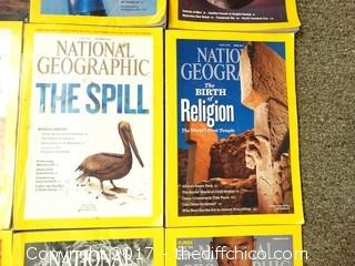 12 National Geographic Books