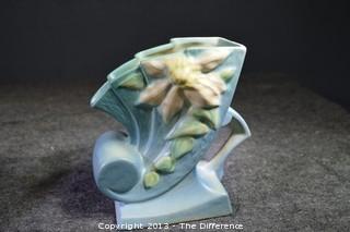 Roseville Clematis Cornucopia Pottery 193-6