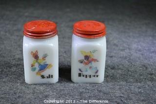 Vintage Black American Salt & Pepper Shakers