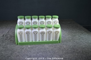 Griffin Spice Set of 12 w/Green Wood Tray and Lids