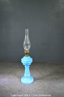 Civil War ERA Oil Lamp w/Chimney
