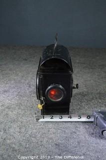 Vintage English Railroad Lantern in Perfect Condition