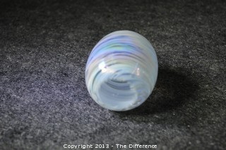 Unsigned Hand Blown Egg