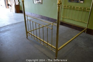 Vintage Brass Canopy Bed