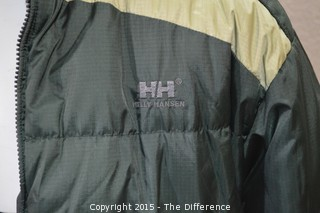 Green Helly Hansen Reversible Jacket-Size Large