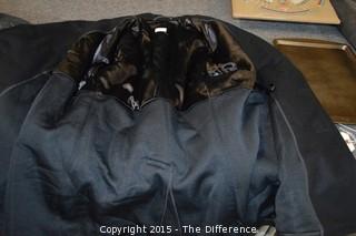 Vintage US Navy Mens Blue Navy Wool Enlisted Pea Coat Jacket Size 42R