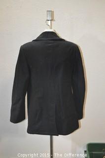 Vintage US Navy Mens Blue Navy Wool Enlisted Pea Coat Jacket Size 38R