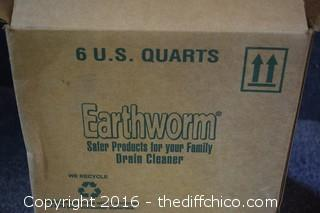 6 Quarts of Earthworm Drain Cleaner