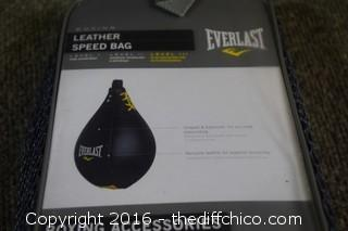 Everlast Medium Leather Speed Bag