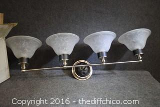 4 Glass Shades Vanity Light Fixture