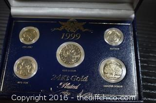 1999 24k Gold Plated Collectors Coin Set