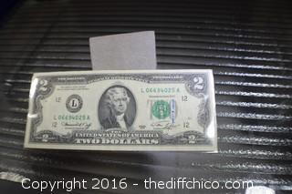 1976 year $2 Dollar Bill