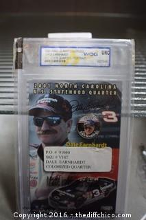 2001 Colorized Dale Earnhardt NC State Quarter