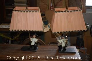 Pair of Working Oriental Lamps