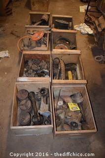 8 Wood Crates + Contents