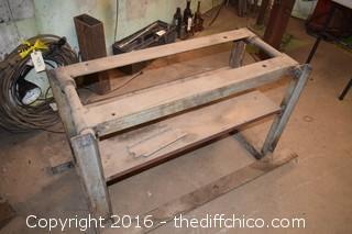 Metal Work Bench - Needs Top
