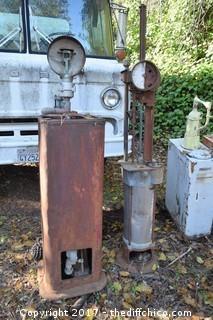 2 Vintage Gas Pumps