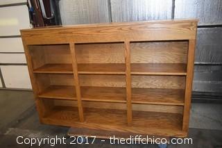 Wood Bookcase w/Top Storage