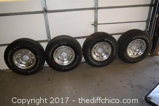 4 Tires & Rims - 6-3/4 inch spacing