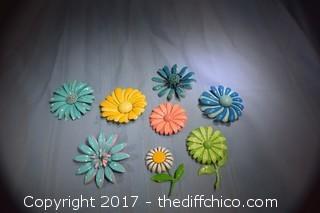 8 Vintage 1950's Pins