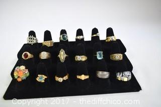 18 Costume Jewelry Rings
