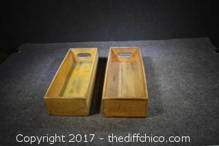 2 Wood Boxes