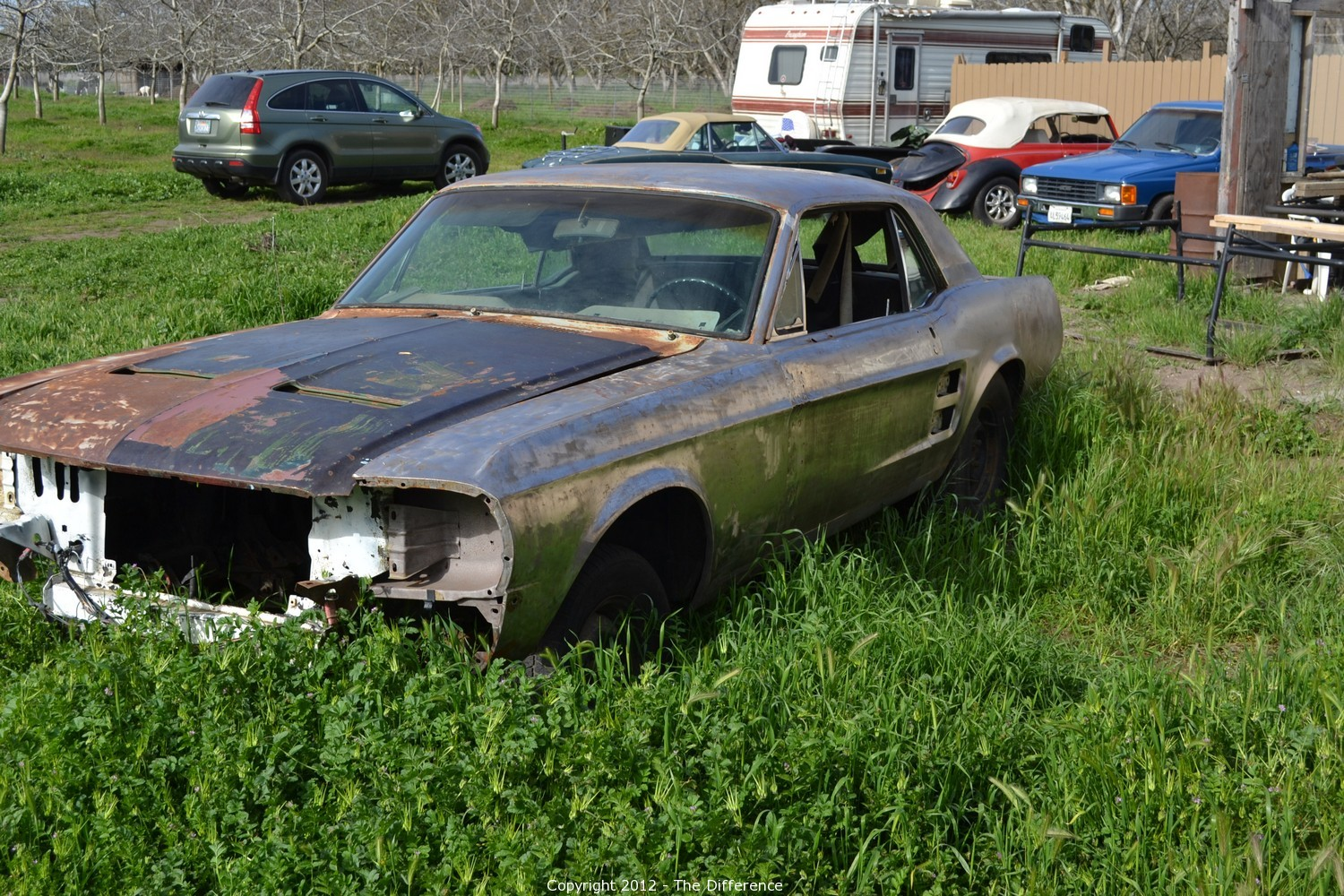 The Difference - Auction: 1998 Motorcycle & 1967 Mustang Parts Car ...