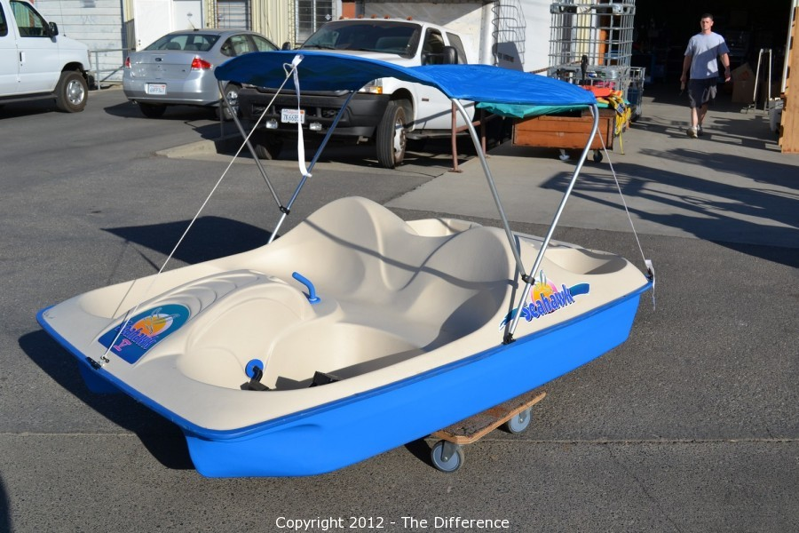 Sea Hawk V Paddle Boat w/Canopy & The Difference - Auction: Inventory Reduction Auction ITEM: Sea ...