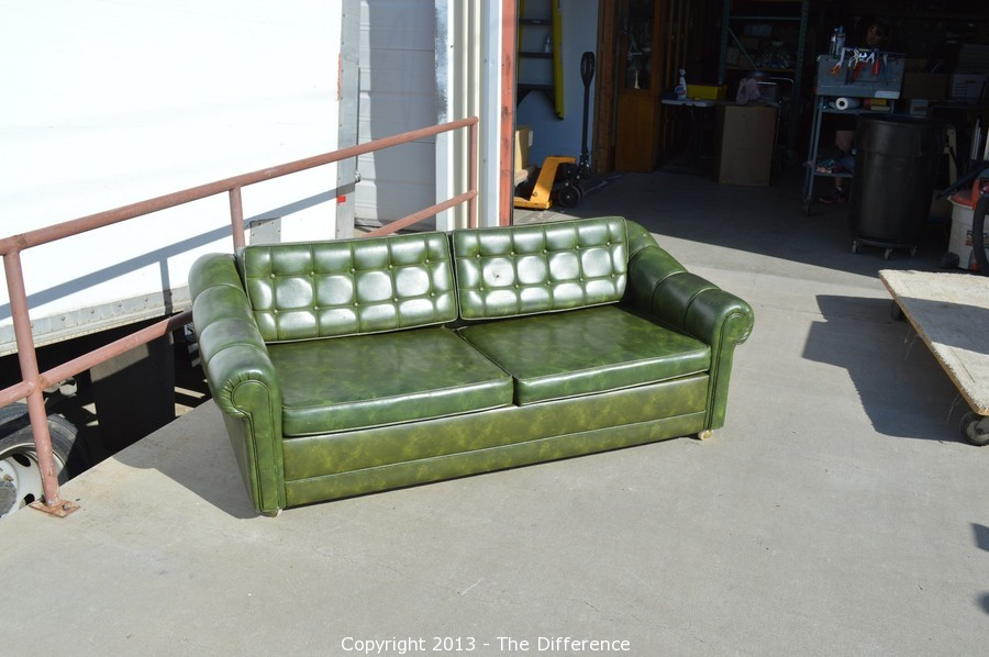 Captivating Vintage Vinyl Couch Hide A Bed