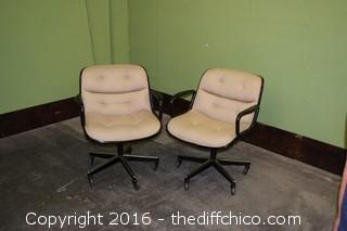 Pair of Charles Pollock by Knolls Swivel / Rock / Roll Chairs