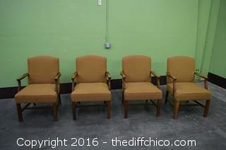 4 Padded Chairs