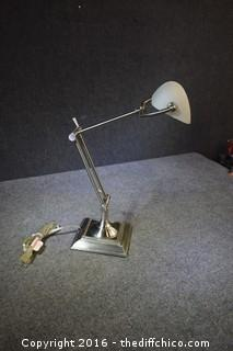 Working Adjustable Light Fixture - 23-1/2 inches tall