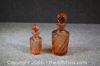 2 Matching Perfume Bottles