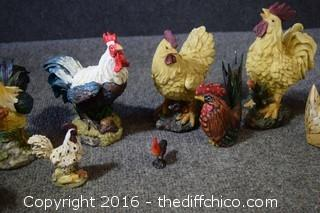 Lot of 10 Chickens