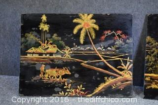 Pair of Oriental Plaques