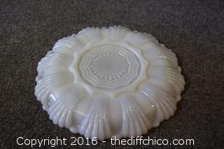 Milk Glass Egg Plate