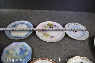 Mixed Lot of Hand-Painted Plates & More