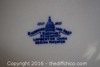 Baltimore & Ohio Lamberton China Plate