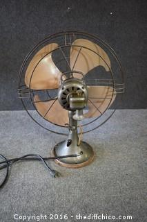 Working Vintage GE Fan - 3 Speeds & 19in dia - Osculating does not work