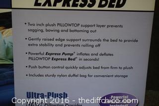 NIB Pillow Top Ultra Plush Queen Size Express Bed
