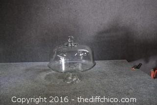 Covered Cake Plate Stand