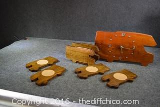 Wood Coasters & Clock-Untested