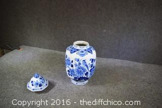 Oriental Blue & White Ginger Jar