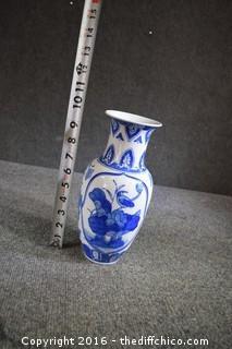 Oriental Blue & White Vase