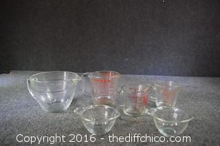 Vintage Glass Measuring Cups & More