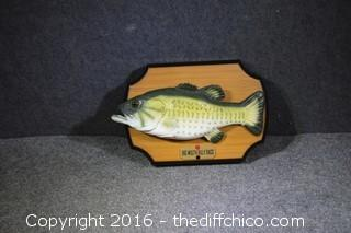 Singing Bass Plaque